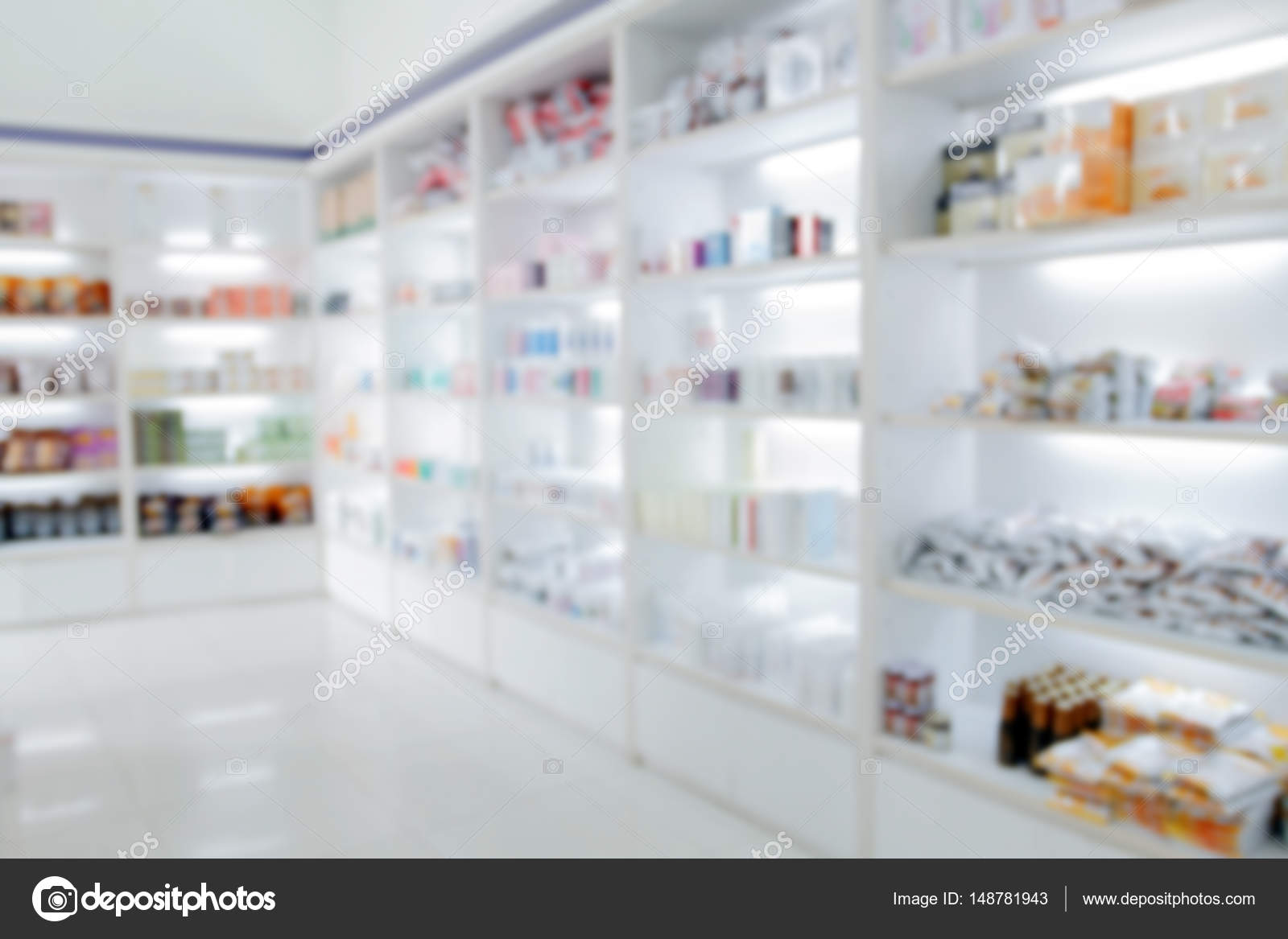 Delicieux Blurry Medicine Cabinet And Store Medicine And Pharmacy Drugstor U2014 Stock  Photo