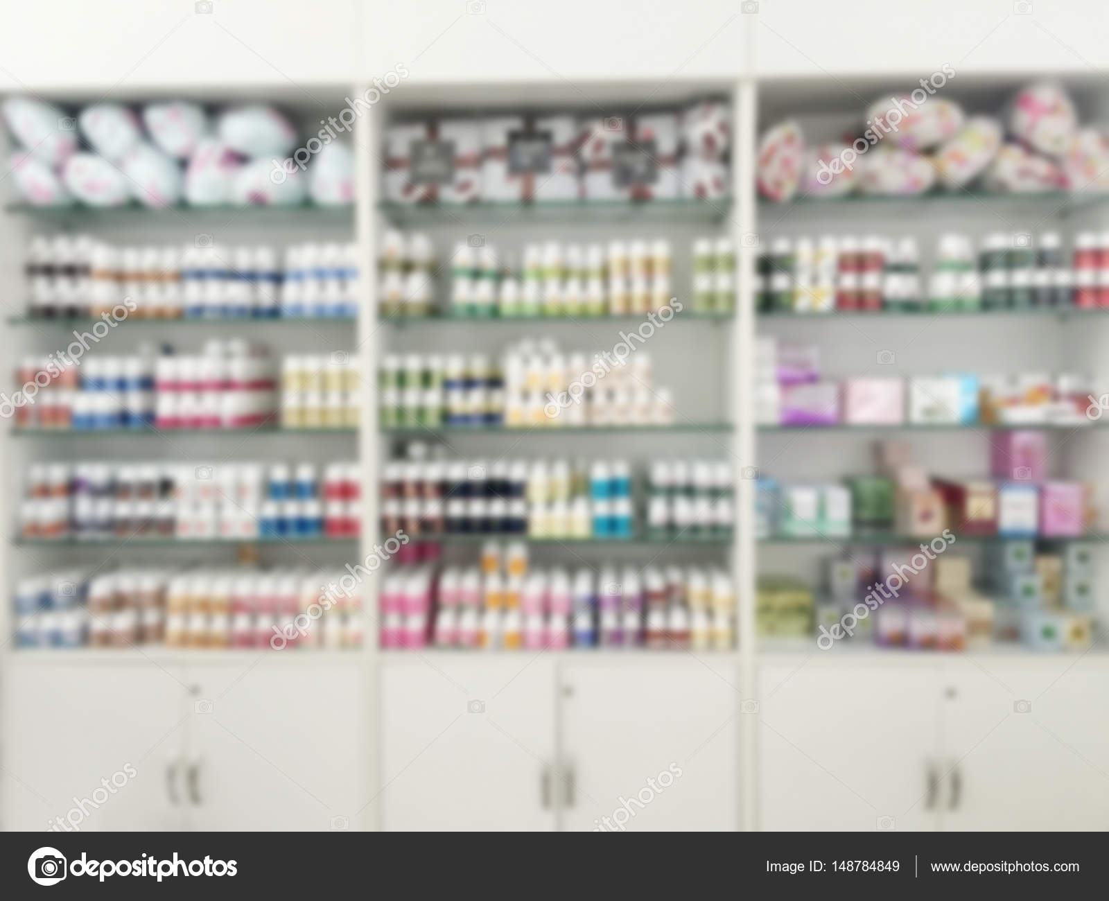 Blurry Medicine Cabinet And Store Medicine And Pharmacy Drugstor U2014 Stock  Photo