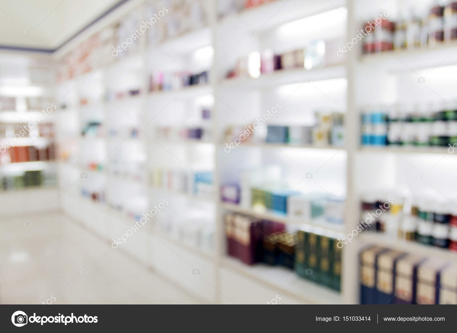 Blurry Medicine Cabinet And Store Medicine And Pharmacy Drugstor U2014 Stock  Photo