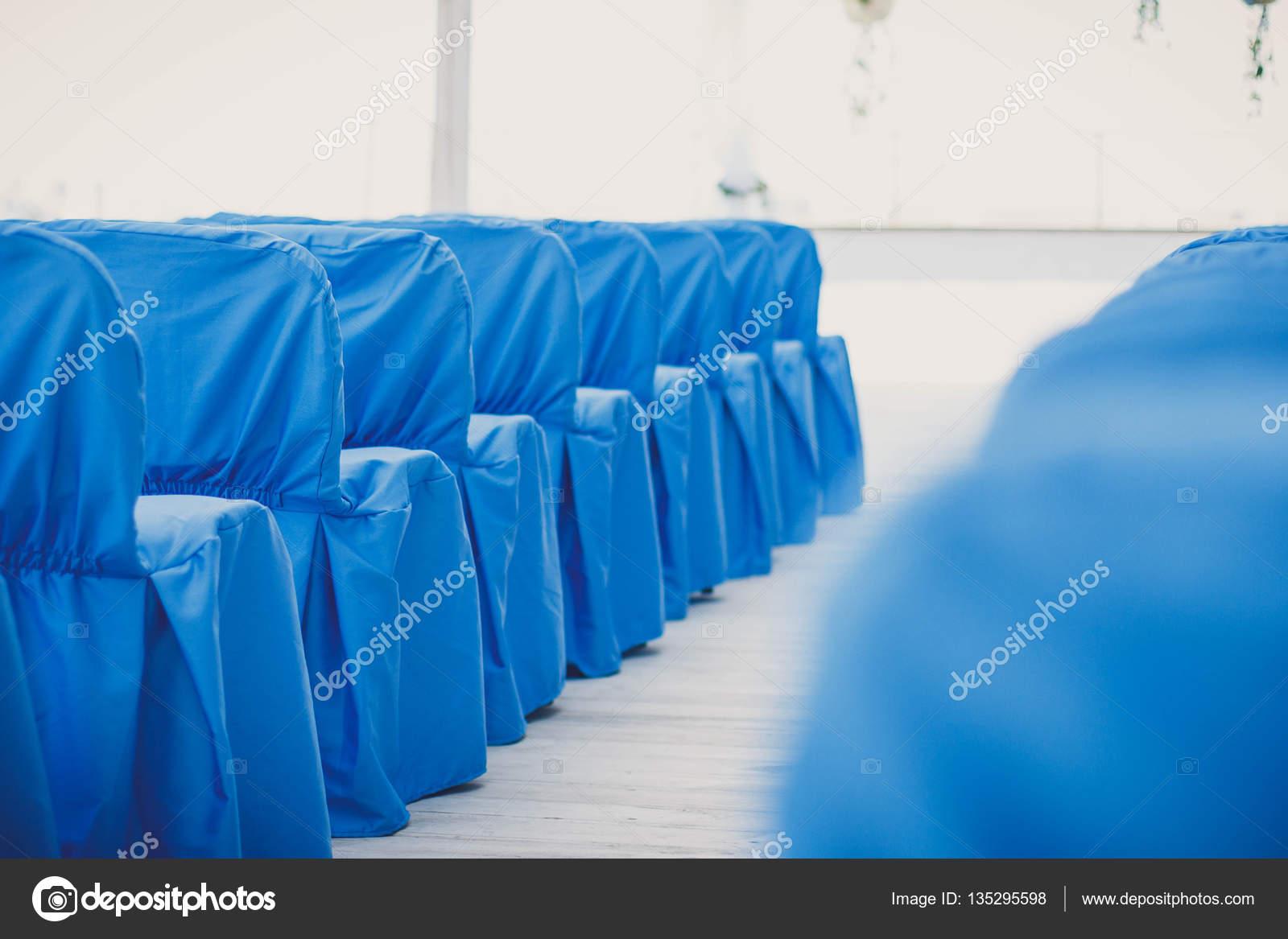 Enjoyable Decorated Blue Wedding Chairs Stock Photo C Cellar Door Interior Design Ideas Clesiryabchikinfo