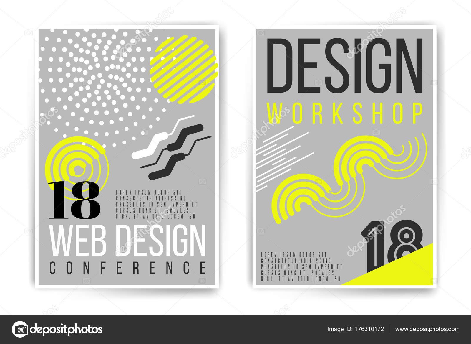 Design-Workshop, Design Konferenz Plakat — Stockvektor © oxanaart ...