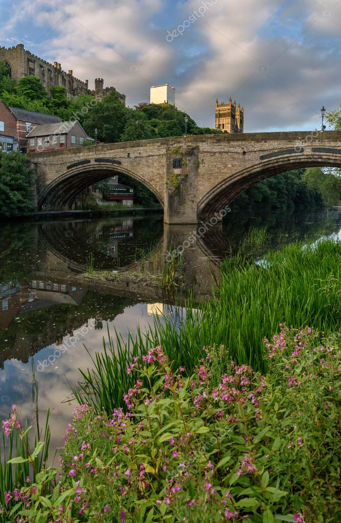 Durham City River Weir England Uk Stock Photo C Sakhanphotography