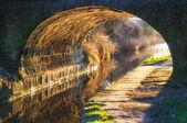 tunel most přes kanál