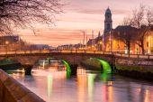 Fotografie Grattan Bridge in Dublin