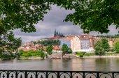 Pražský hrad s řeky Vltavy