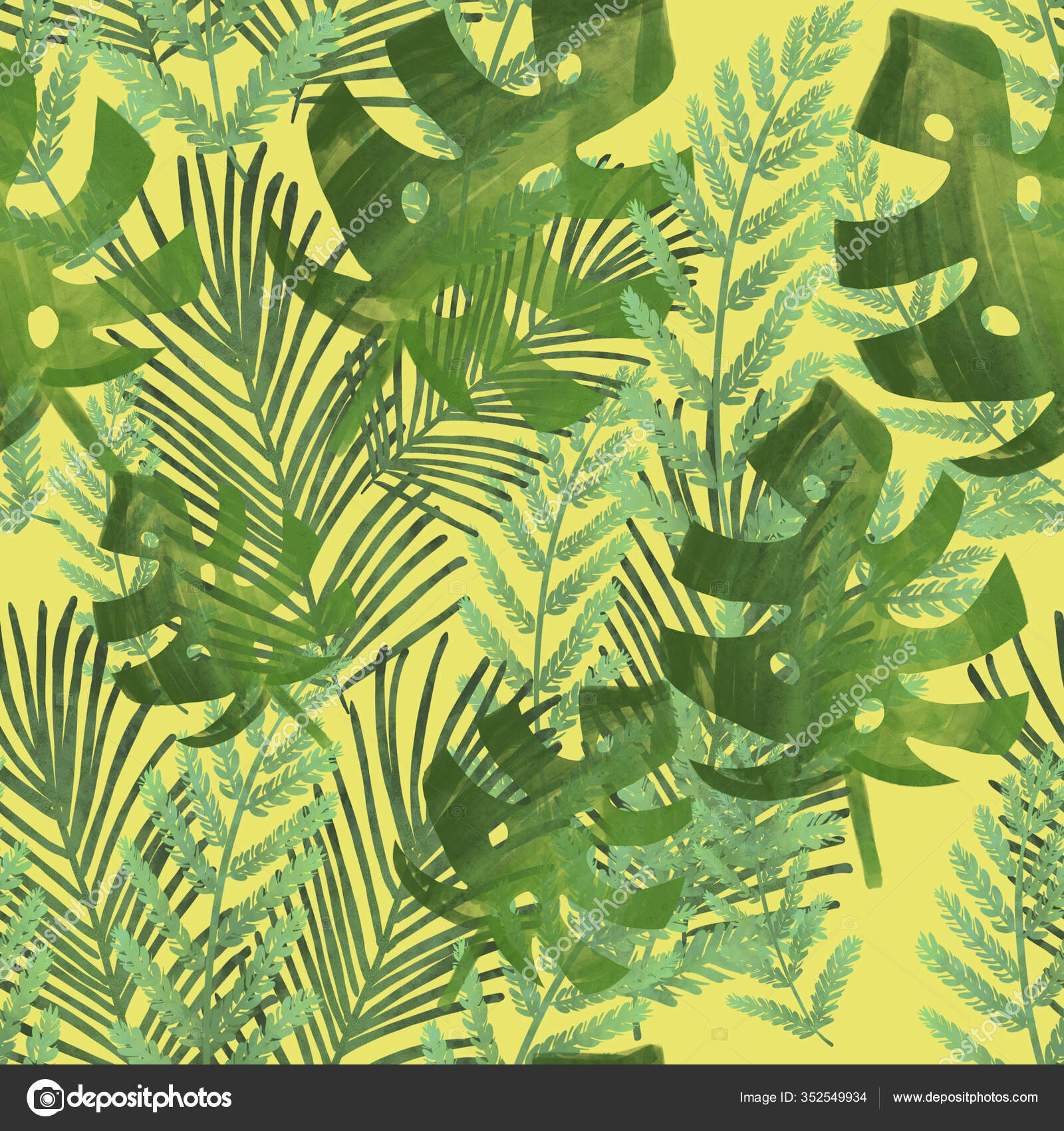 Tropical Leaves Yellow Background Palm Leaves Monstera Ferns Banana Leaves Stock Photo C Kkvate 352549934 Download 4,229 tropical leaves free vectors. https depositphotos com 352549934 stock photo tropical leaves yellow background palm html