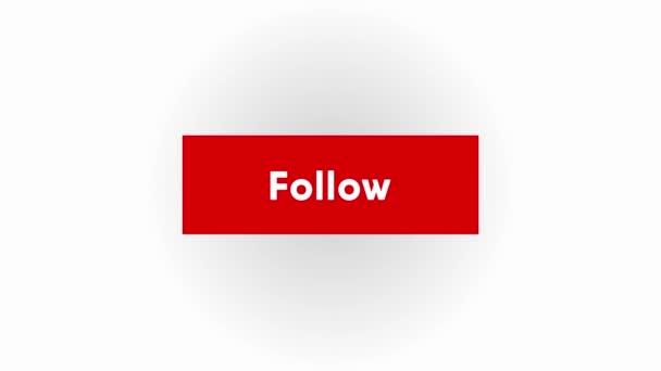 piros követő gomb. Videó