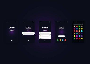 Smartphones,  Mobile Phones,  screens. 3D Render