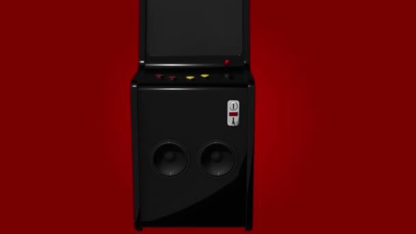 Arcade Machine Retro Gaming Style Joystick és gombok 3D Render 4k