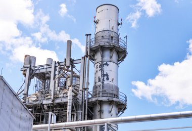 Gas turbine electricity generating power station
