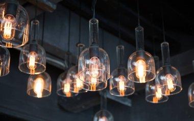 Arrangement of hanging lighting, lightbulb