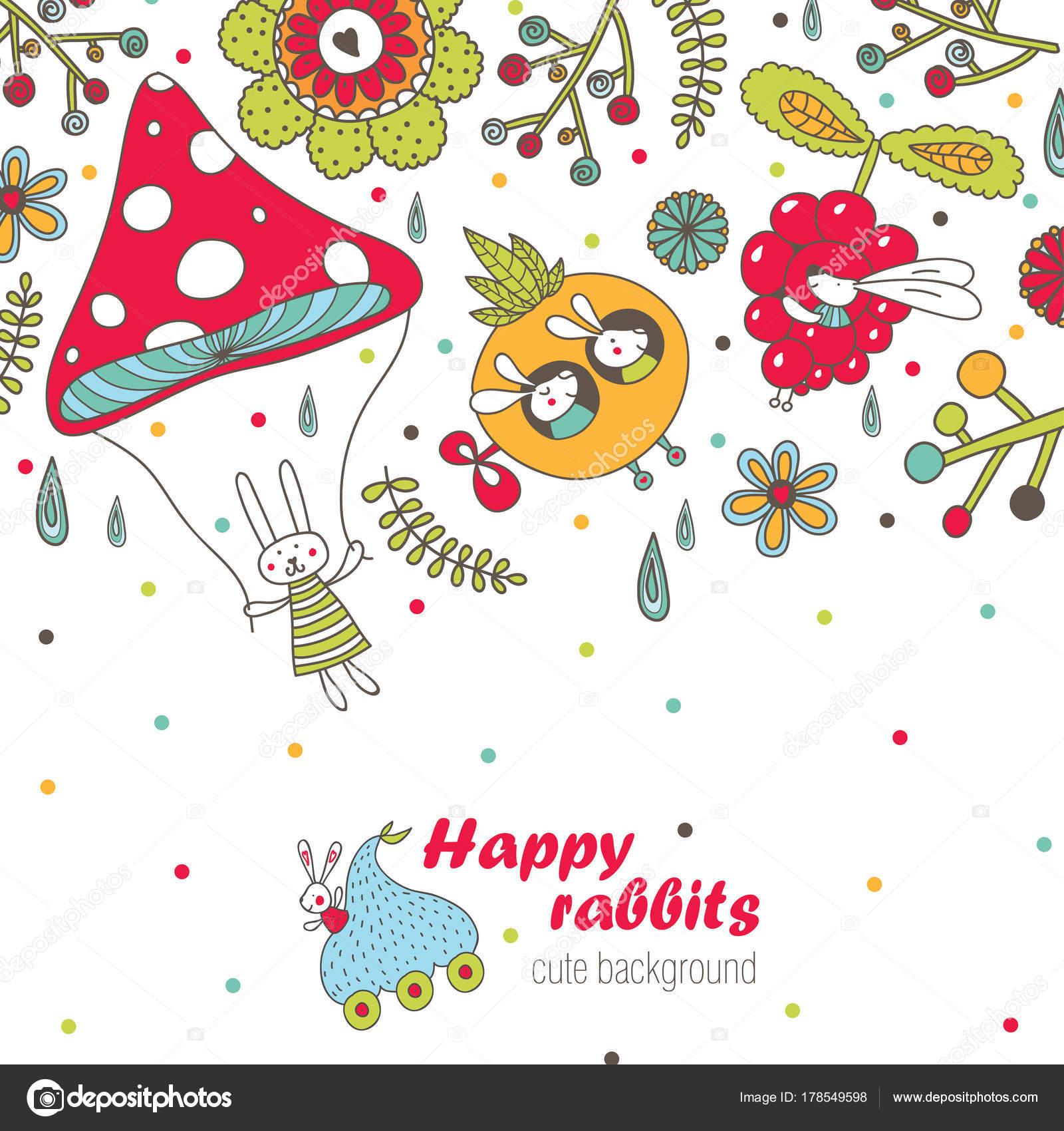 joyeuses pâques jolie carte postale vector — image vectorielle