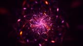 3D renderelés absztrakt piros fraktál fény háttér