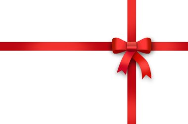 gift, red ribbon, red loop, bow