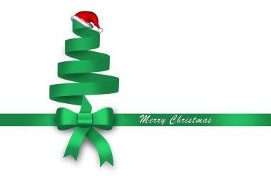 gift, green ribbon, green loop, bow