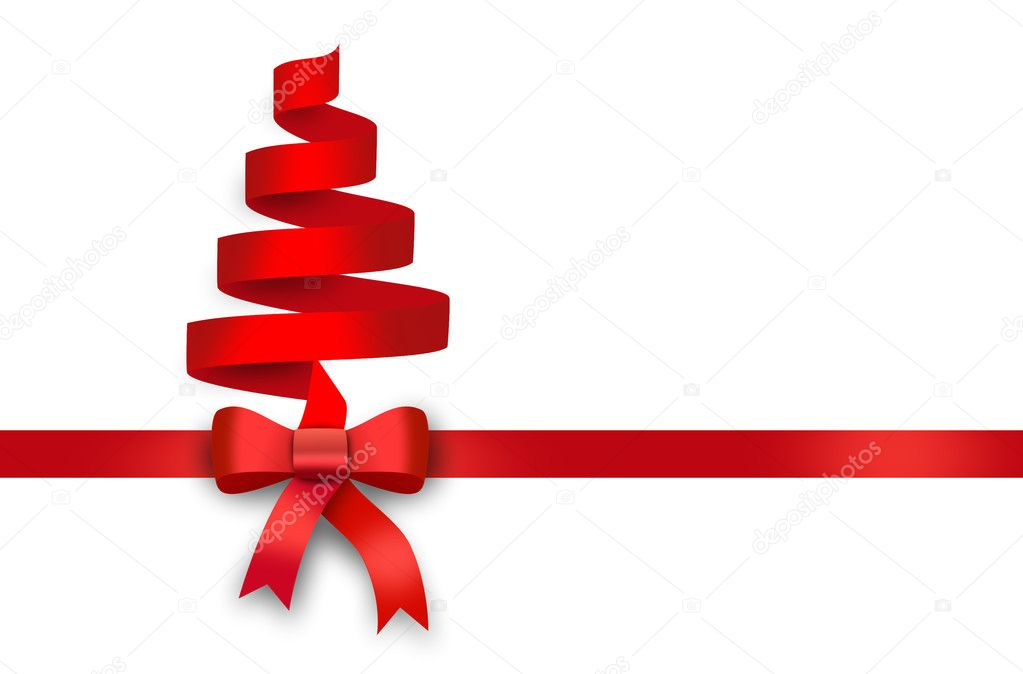 Cinta roja lazo rojo regalo arco foto de stock - Cinta para regalo ...