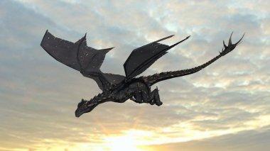 dragon on sky background
