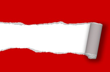 ripped paper - red ripped paper with place for your text or image