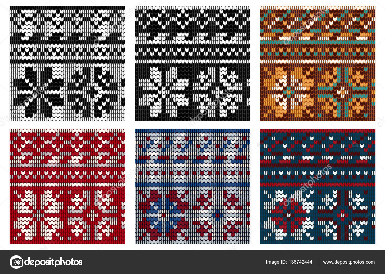 Conjunto de Noruega para hacer punto patrones sin fisuras — Archivo ...
