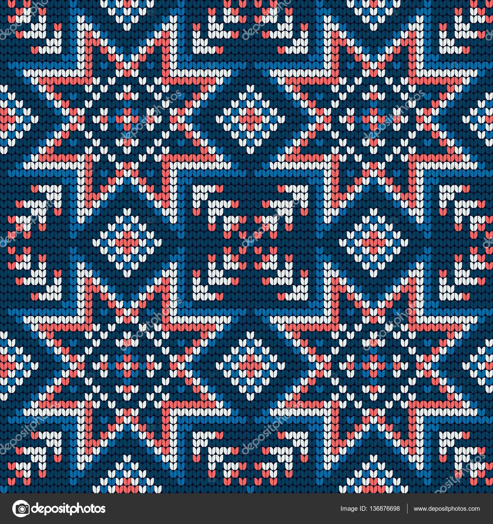 Patrón de punto tradicional para el suéter feo — Archivo Imágenes ...