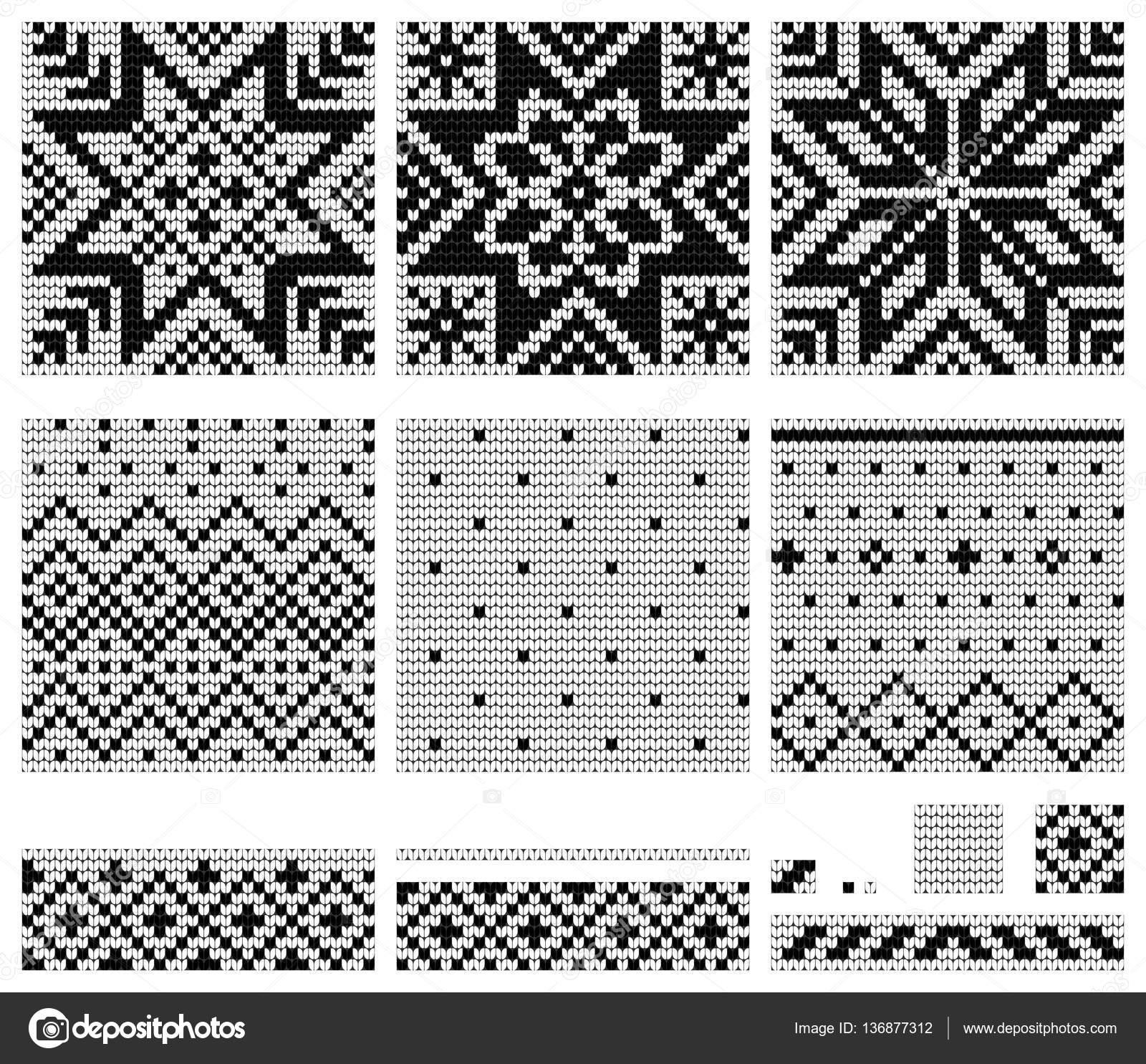 Conjunto de Norwegian Star tejer patrones — Archivo Imágenes ...