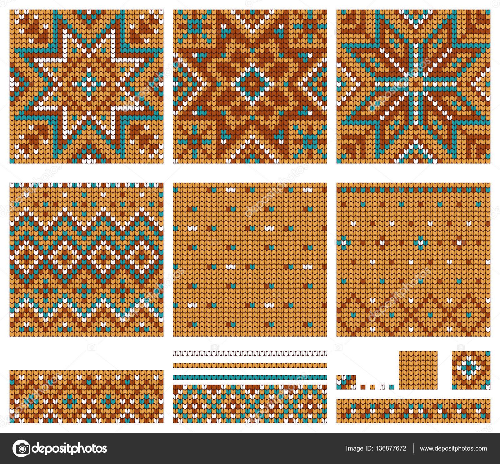 Set of Norwegian Star knitting patterns — Stock Vector © xenbuddism ...