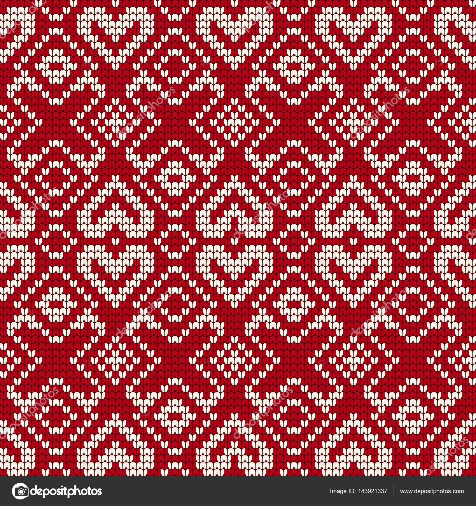 Patrón de punto tradicional para el suéter feo — Vector de stock ...