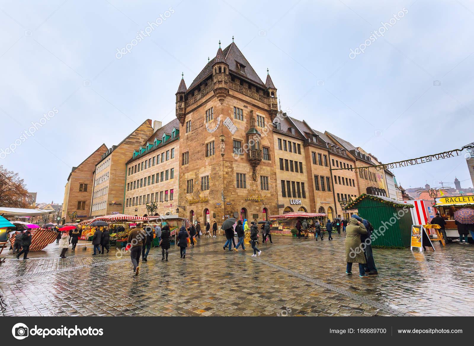 Christmas market in Nuremberg, Bavaria – Stock Editorial Photo ...