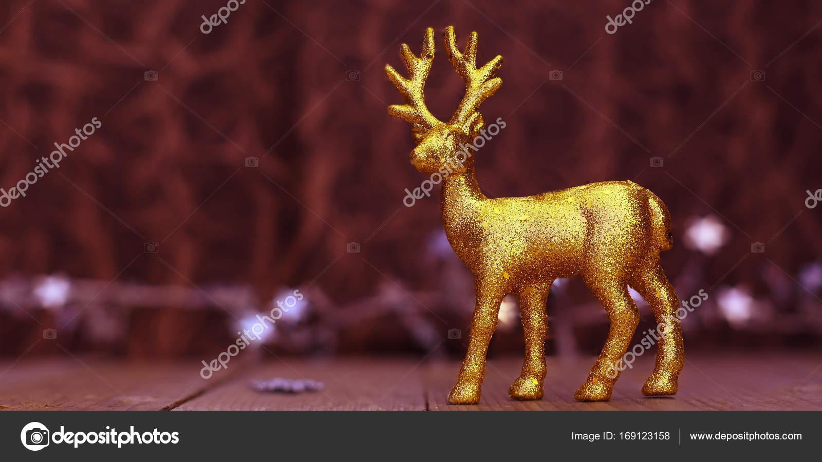 kerst rendier achtergrond met verlichting stockfoto