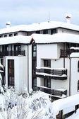 Innevata Chalet dopo la nevicata dura