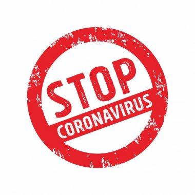 Stop Corona Virus Sign Illustration, 2019-nCoV Tag Label Design Template Vector