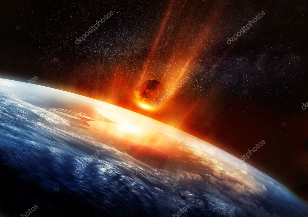 is asteroid hitting earth - HD 2500×1768