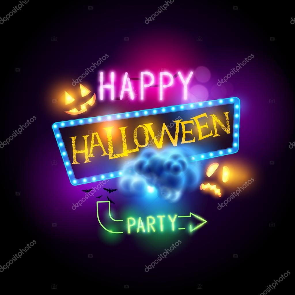 happy halloween sign stock vector solarseven 127563826 rh depositphotos com Halloween Vector Graphics Halloween Cat Vector