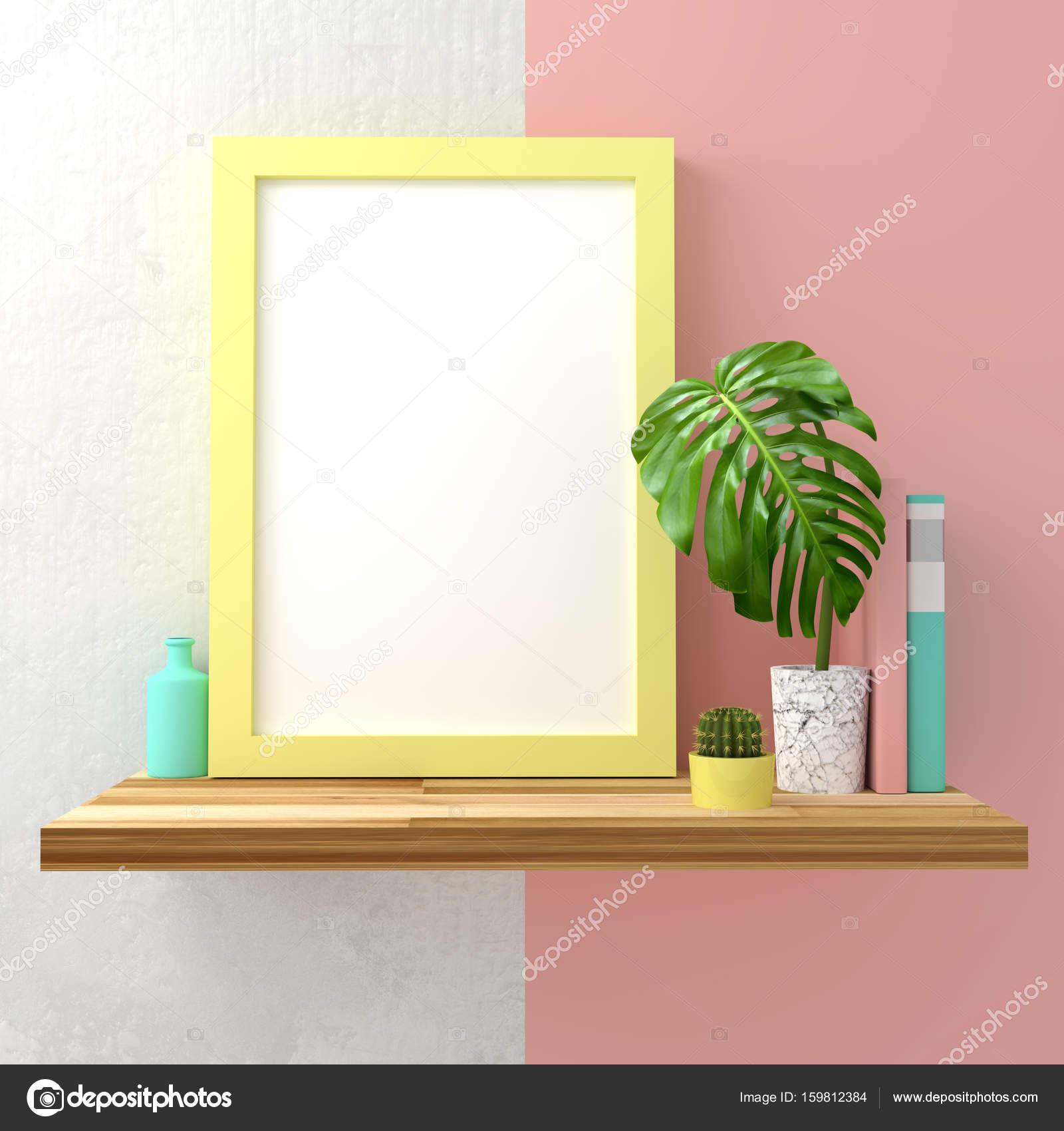 Pastell Rahmen Mock Up — Stockfoto © solarseven #159812384