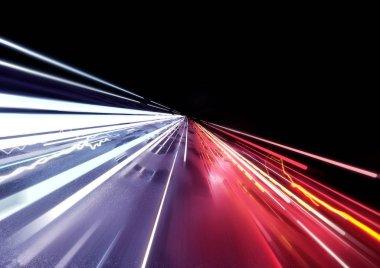 Traffic Car Light Trails