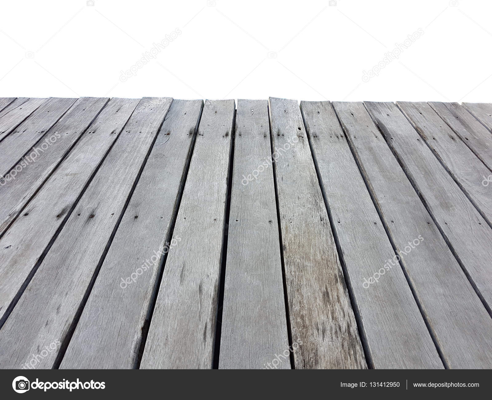 오래 된 빈티지 planked 흰색 절연 관점에서 나무 테이블 — 스톡 ...