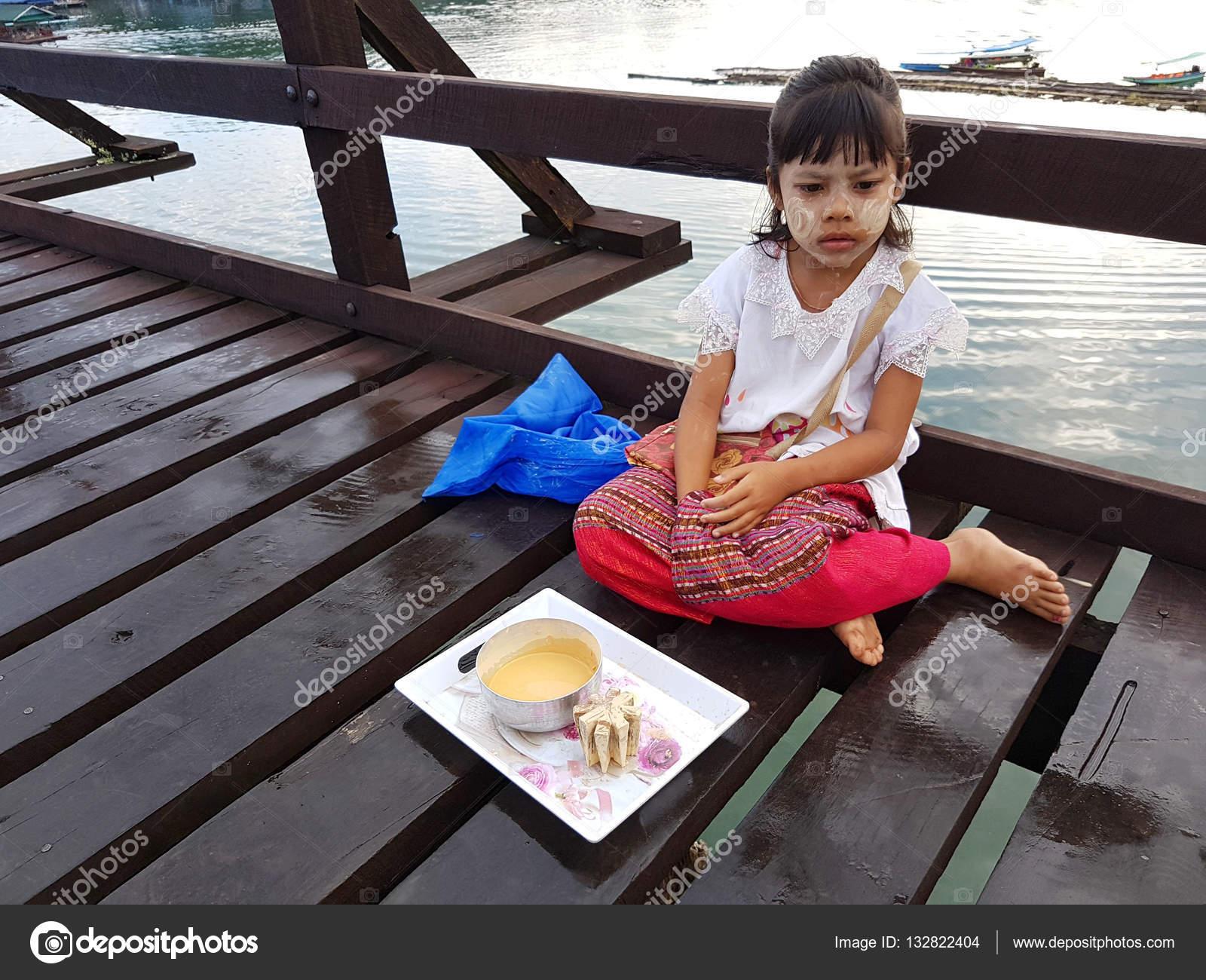 KANCHANABURI, THAILAND - NOVEMBER 25: unidentified Burmese