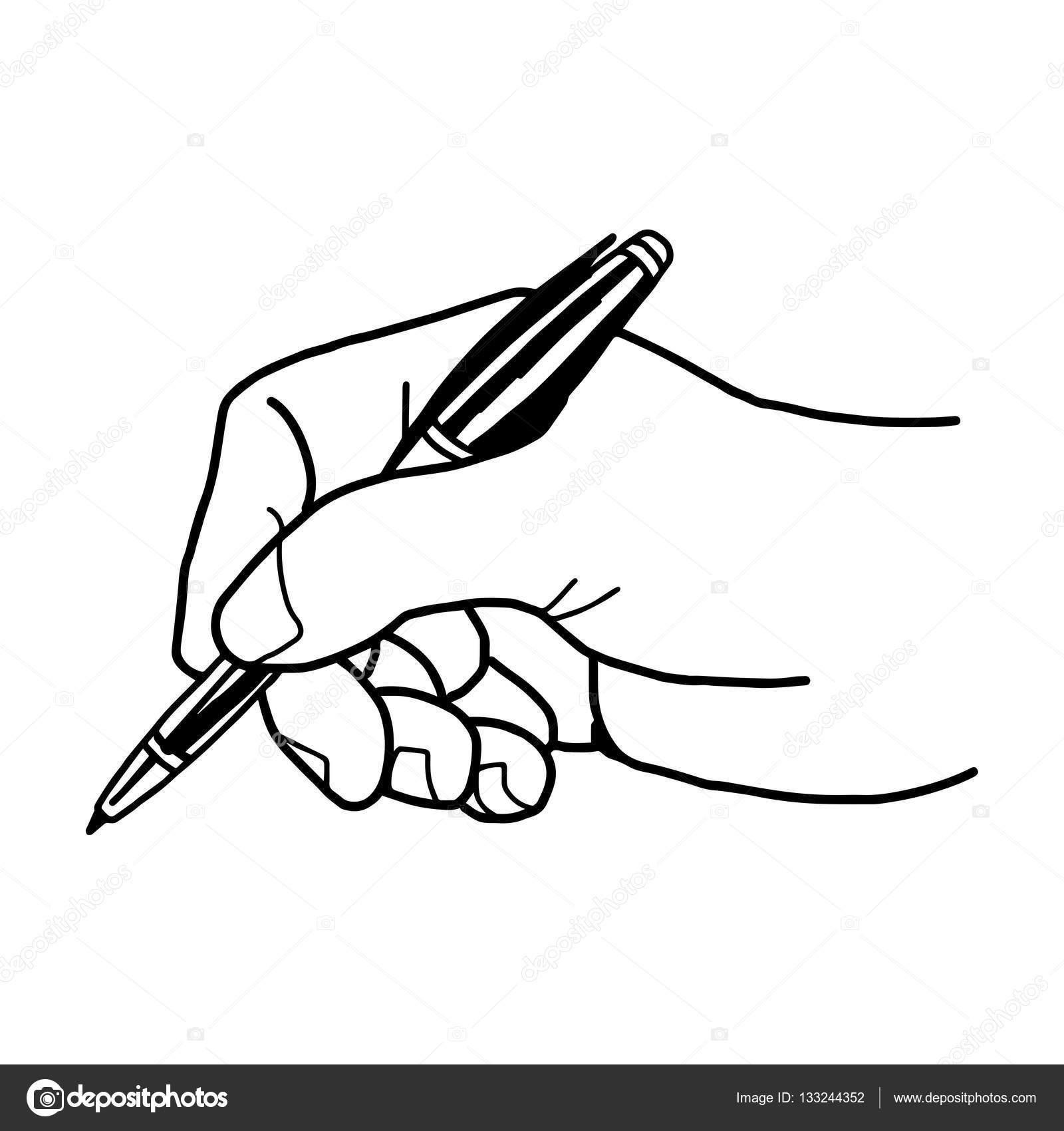 рука пишет ручкой анимация