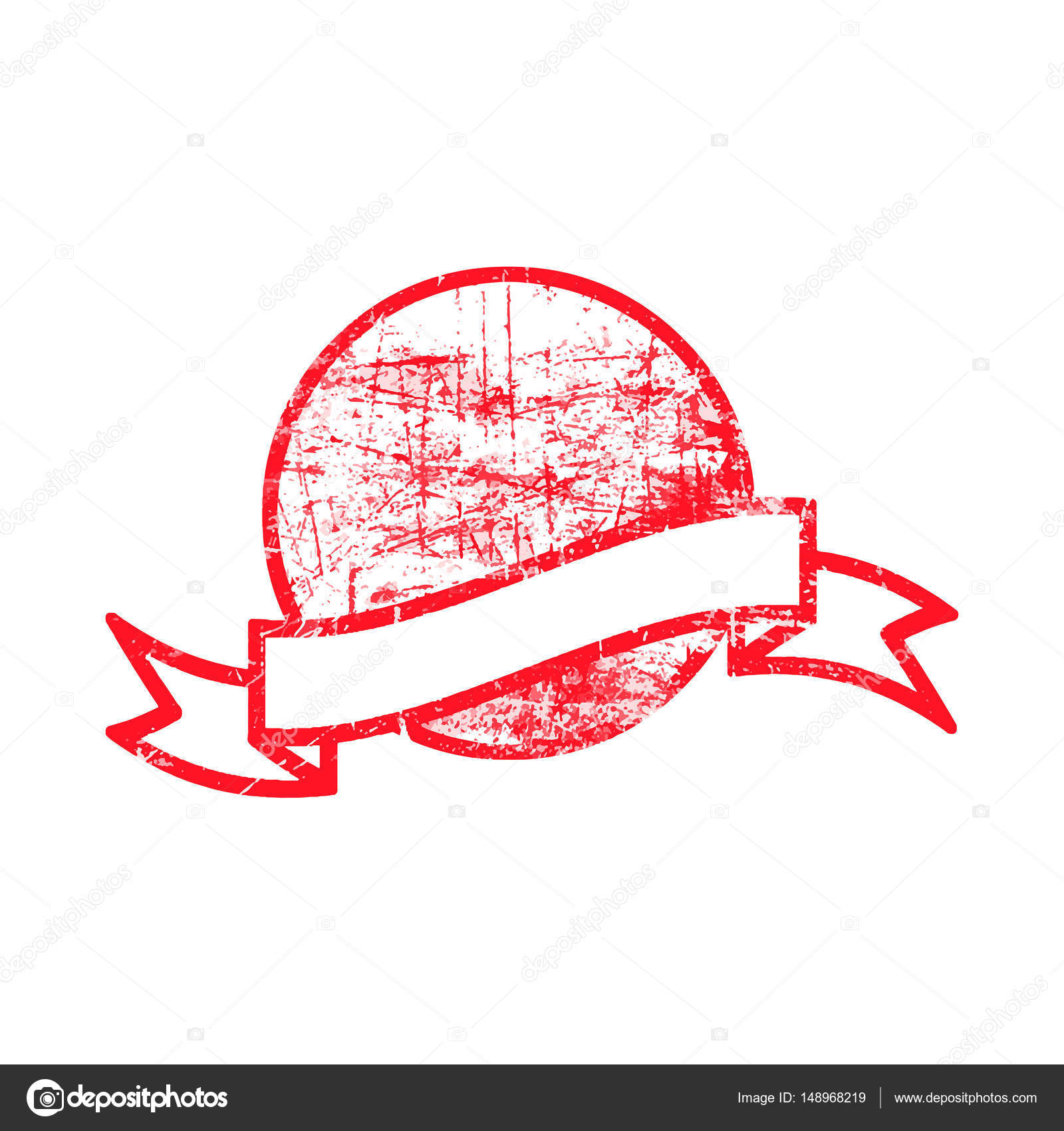 Red dirty circle grunge rubber stamp and ribbon with blank space red dirty circle grunge rubber stamp and ribbon with blank space stock vector biocorpaavc Choice Image