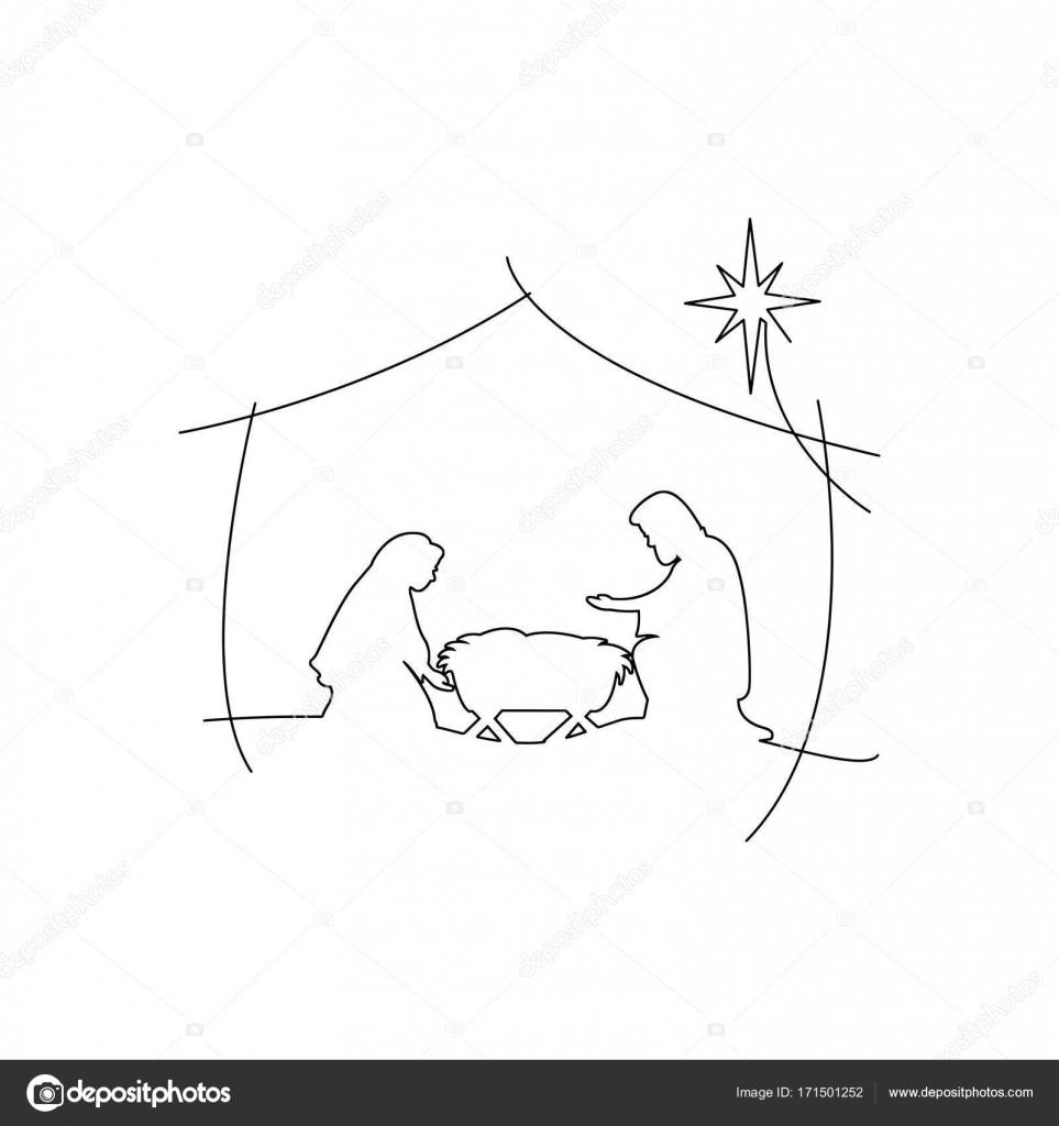 christelijke kerst kerststal kindje jezus in de kribbe