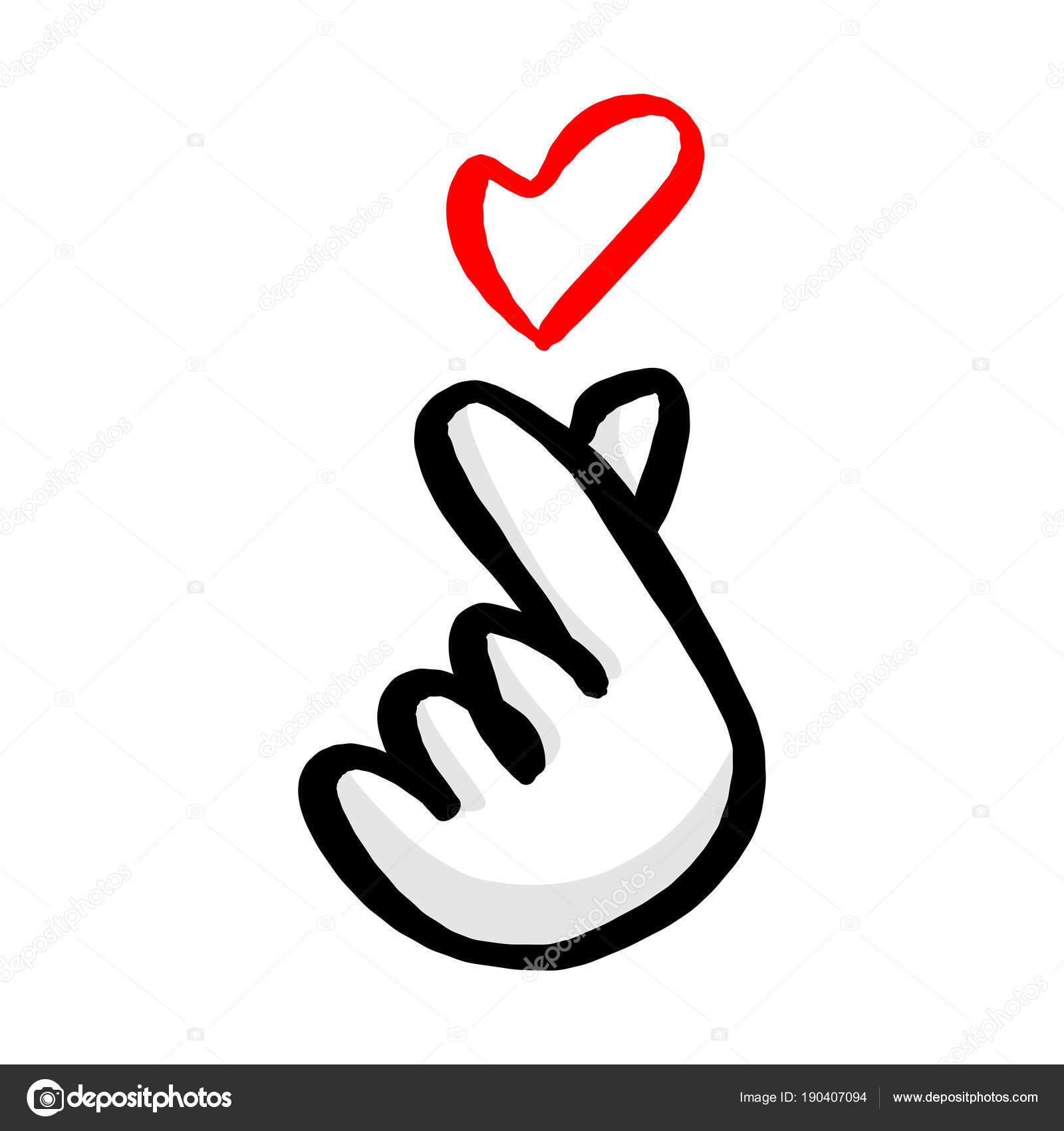 hand hearts korean - HD1000×1080
