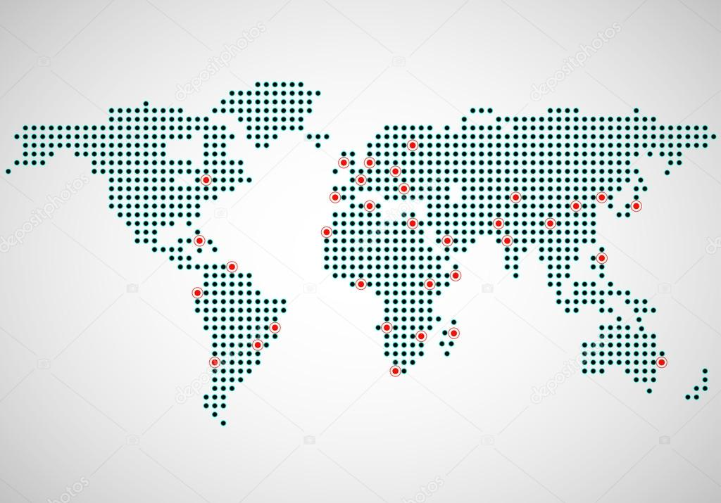 Abstract world map of dots capitals countries stock vector abstract world map of dots capitals countries stock vector gumiabroncs Gallery