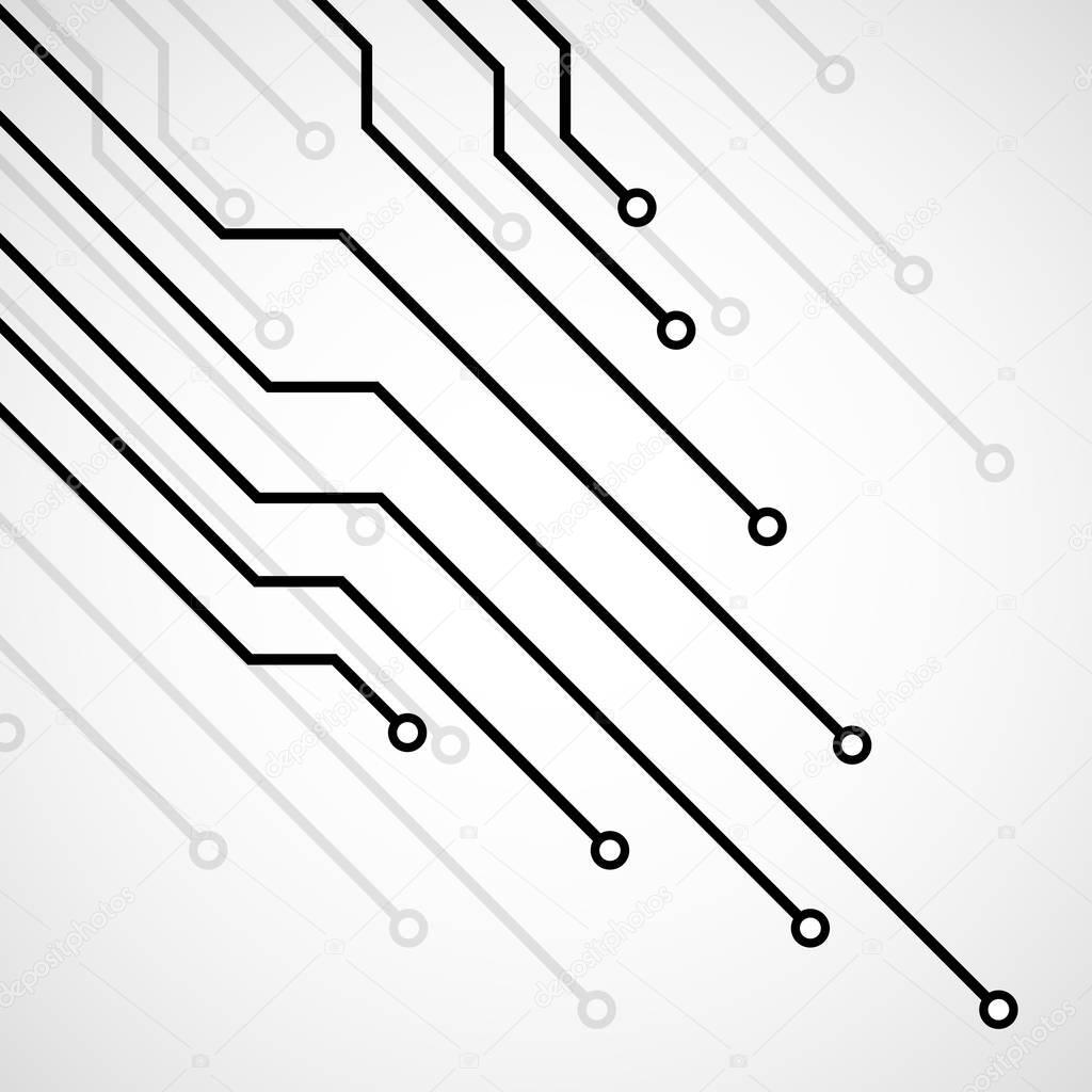 tarjeta de circuitos  fondo de la tecnolog u00eda  vector ilustraci u00f3n eps 10  u2014 vector de stock
