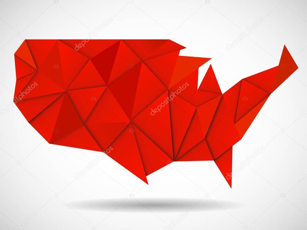 USA Map In Geometric Polygonal Style Geometric Design Stock - Usa map design
