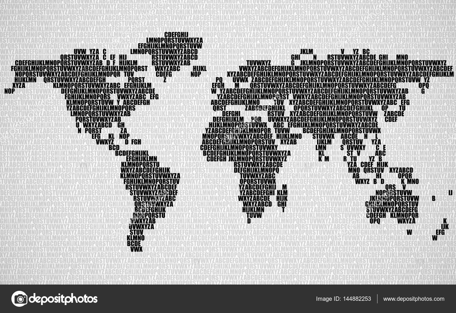 Abstract world map with letters of english alphabet vector abstract world map with letters of english alphabet vector background stock vector 144882253 gumiabroncs Image collections