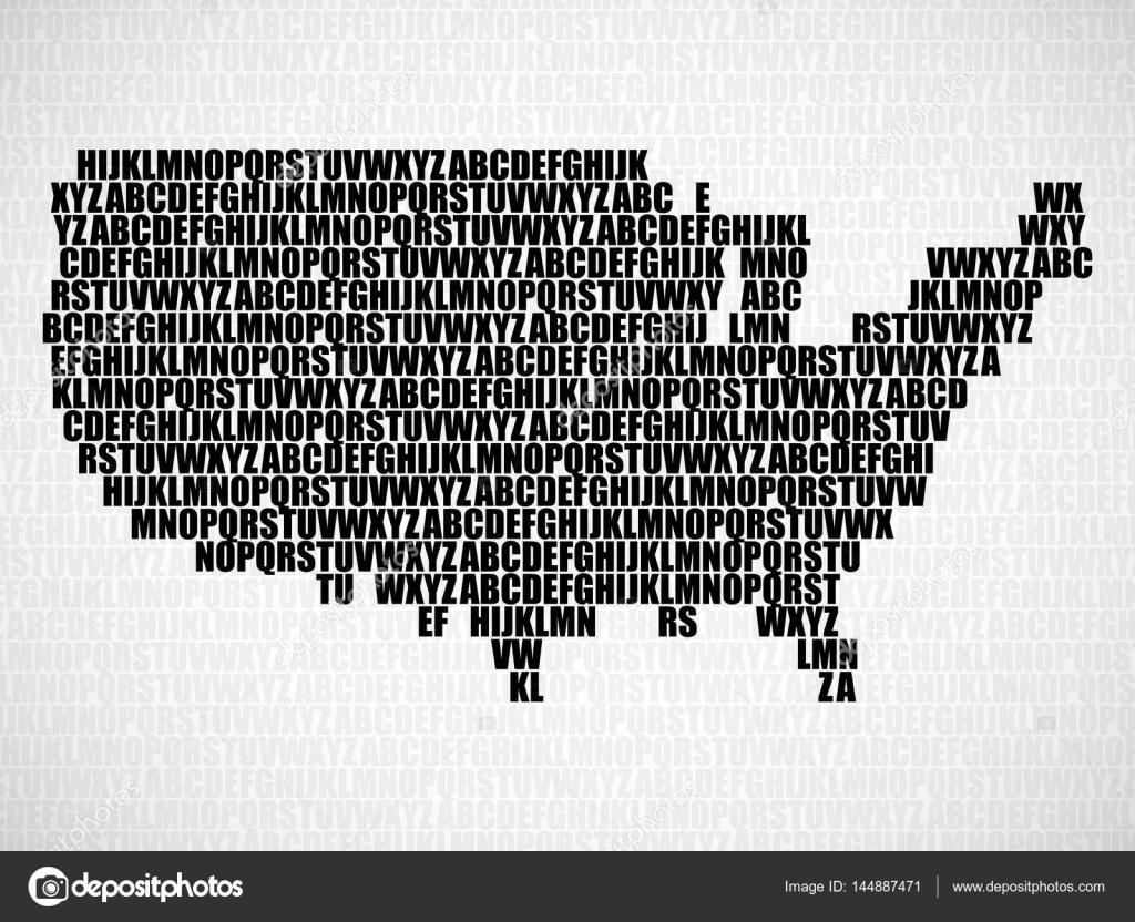 Resumen mapa de estados unidos con las letras del alfabeto ingls resumen mapa de estados unidos con las letras del alfabeto ingls fondo de vector gumiabroncs Images