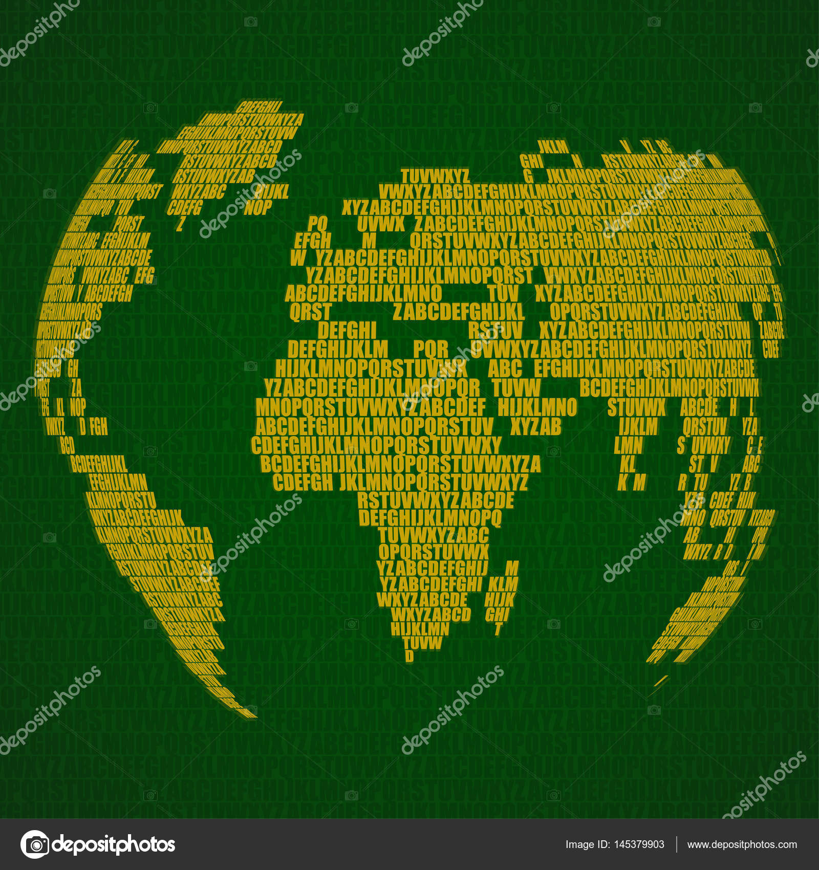 Abstract world map with letters of english alphabet vector globe abstract world map with letters of english alphabet vector globe background stock vector gumiabroncs Images