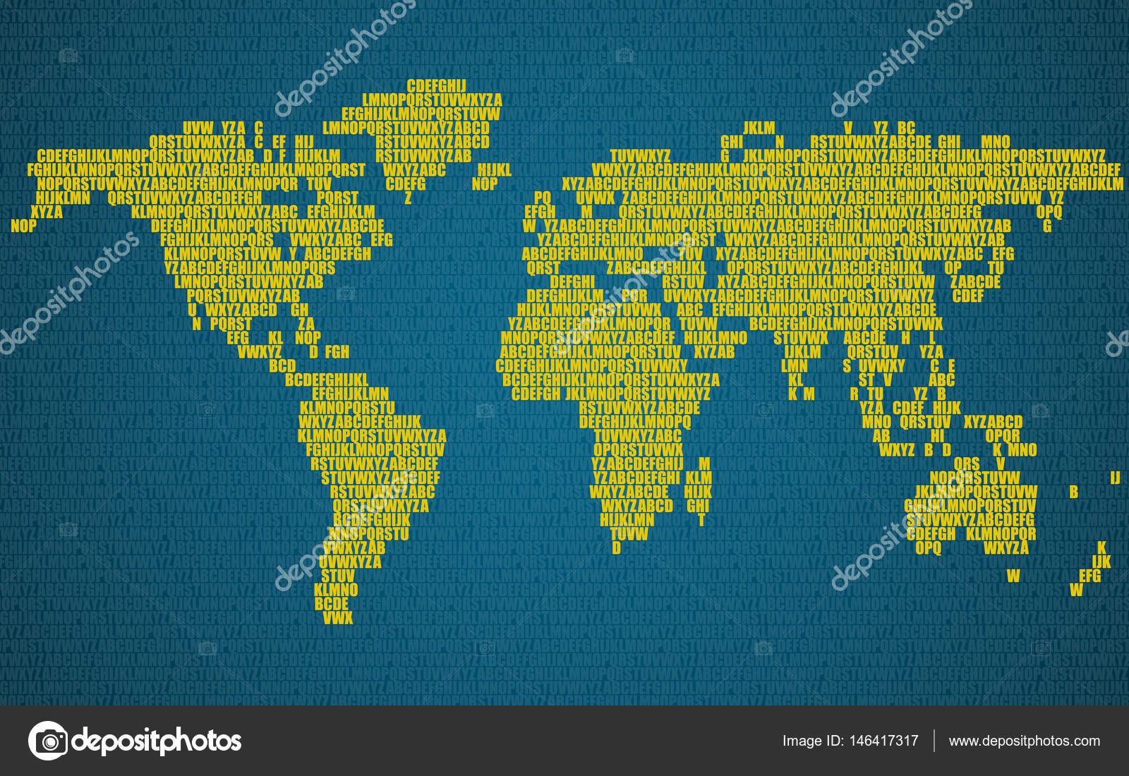 Abstract world map with letters of english alphabet vector abstract world map with letters of english alphabet vector background stock vector gumiabroncs Images