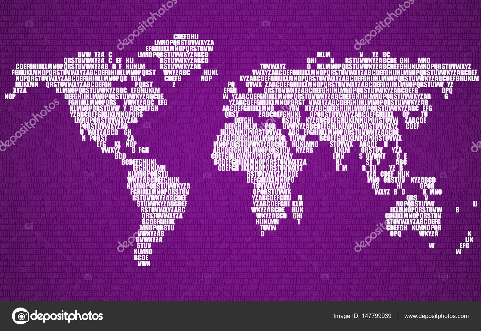 Abstract world map with letters of english alphabet vector abstract world map with letters of english alphabet vector background stock vector gumiabroncs Choice Image