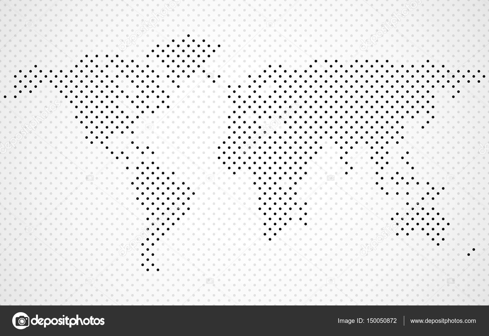 Abstract world map of dots dotted map vector stock vector abstract world map of dots dotted map vector stock vector gumiabroncs Gallery